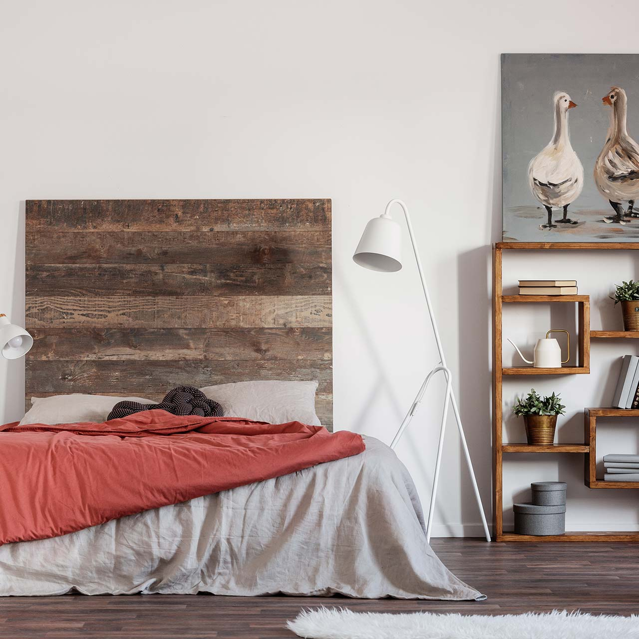 colour palette idea for industrial style bedroom design