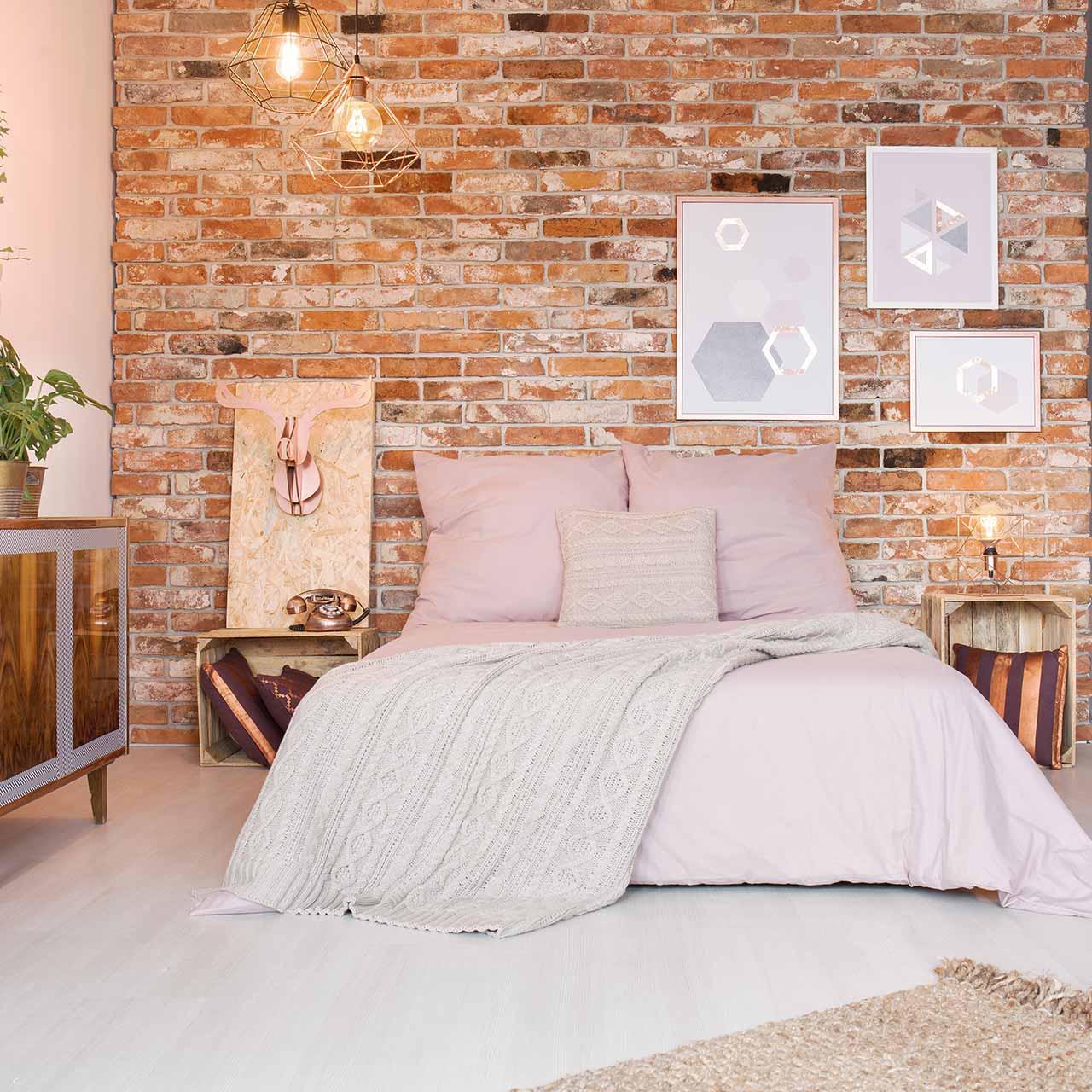 illuminating lightining idea for industrial style bedroom design