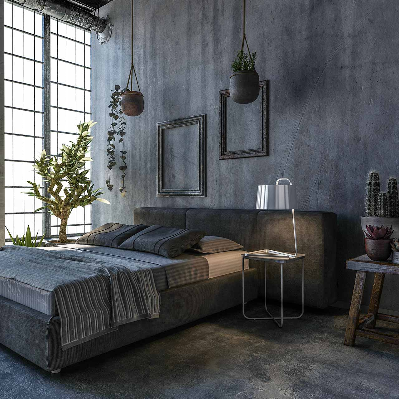 Industrial Bedroom Design Ideas Intro