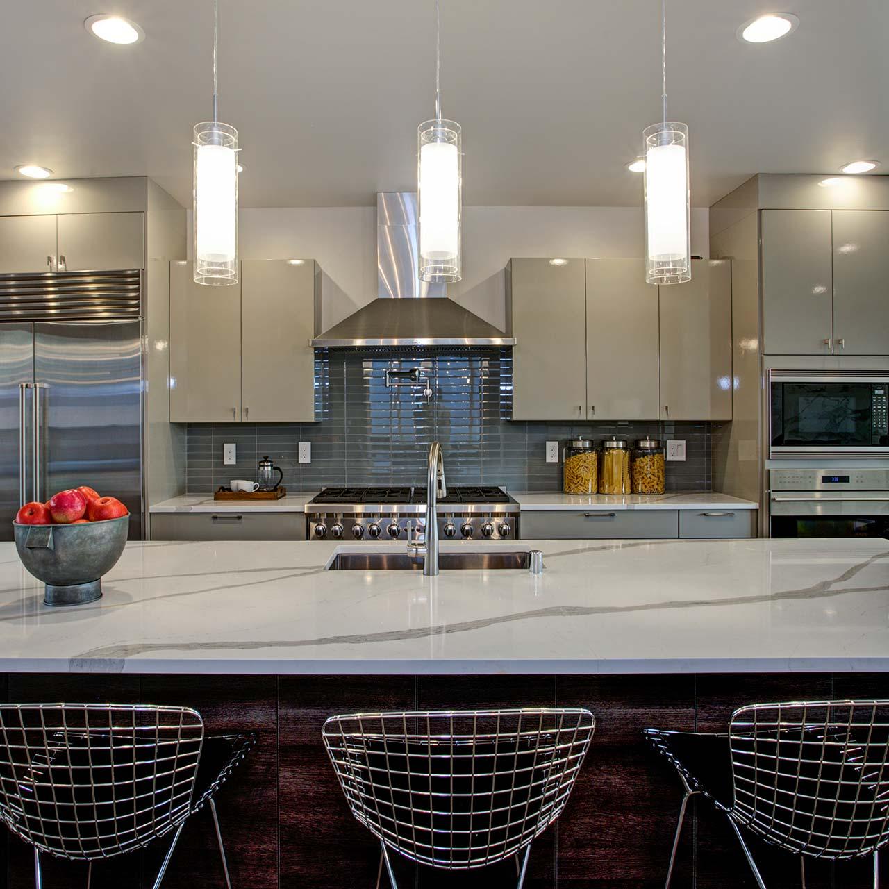 Sleek Modular Kitchen Design