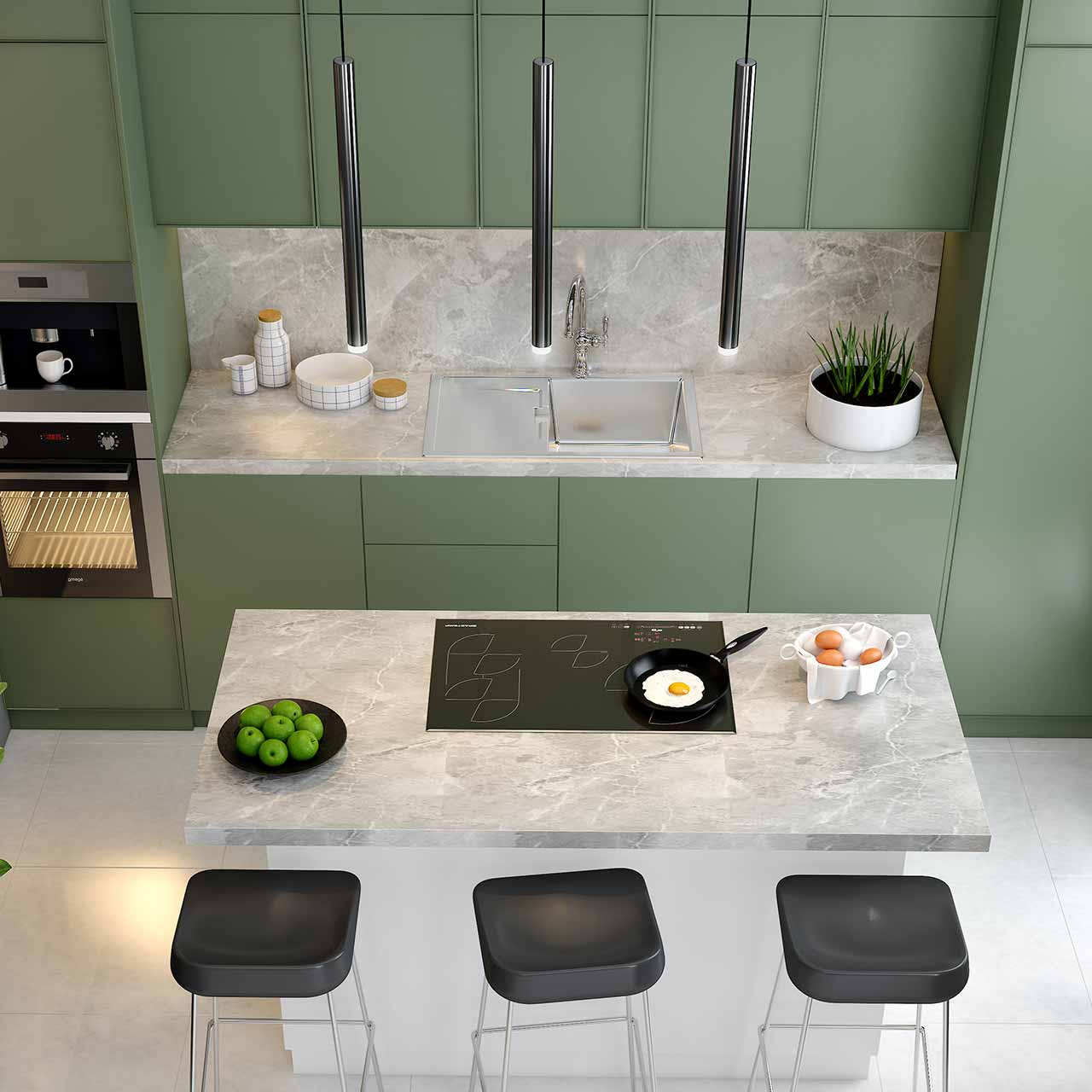 Kitchen Island for Fun And Food