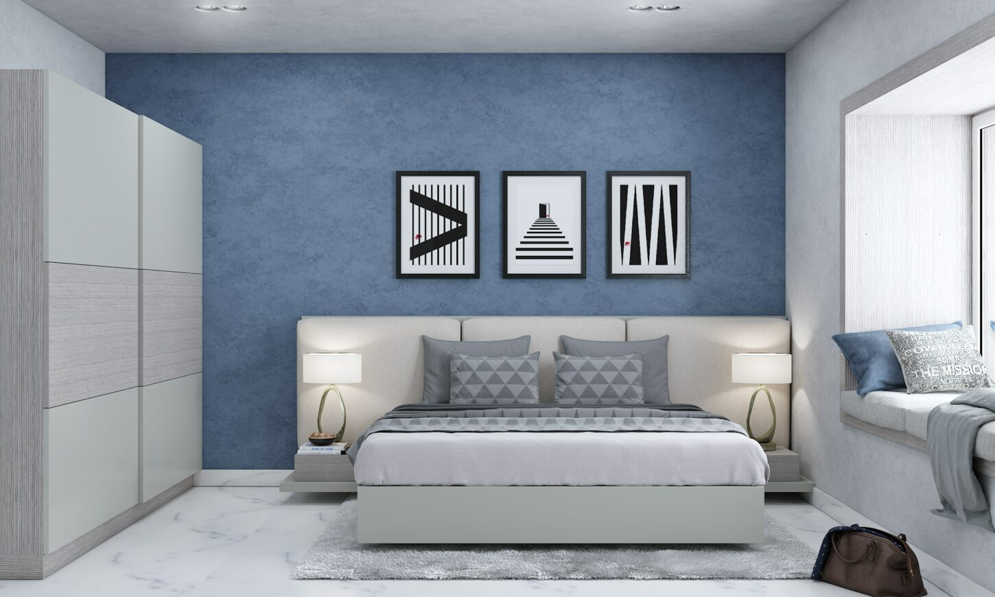 3 bhk home of chaitra guest bedroom interior design in nelamangala bengaluru designed by design cafe