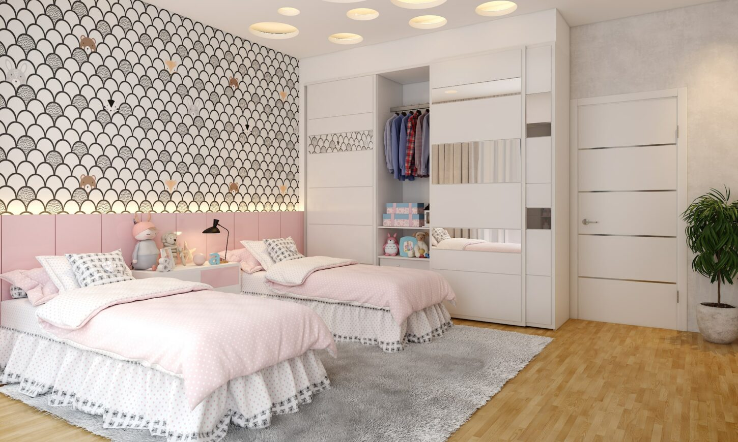 3bhk villa modern classic kids bedroom design of harsh johari in bengaluru sarjapur project done by design cafe