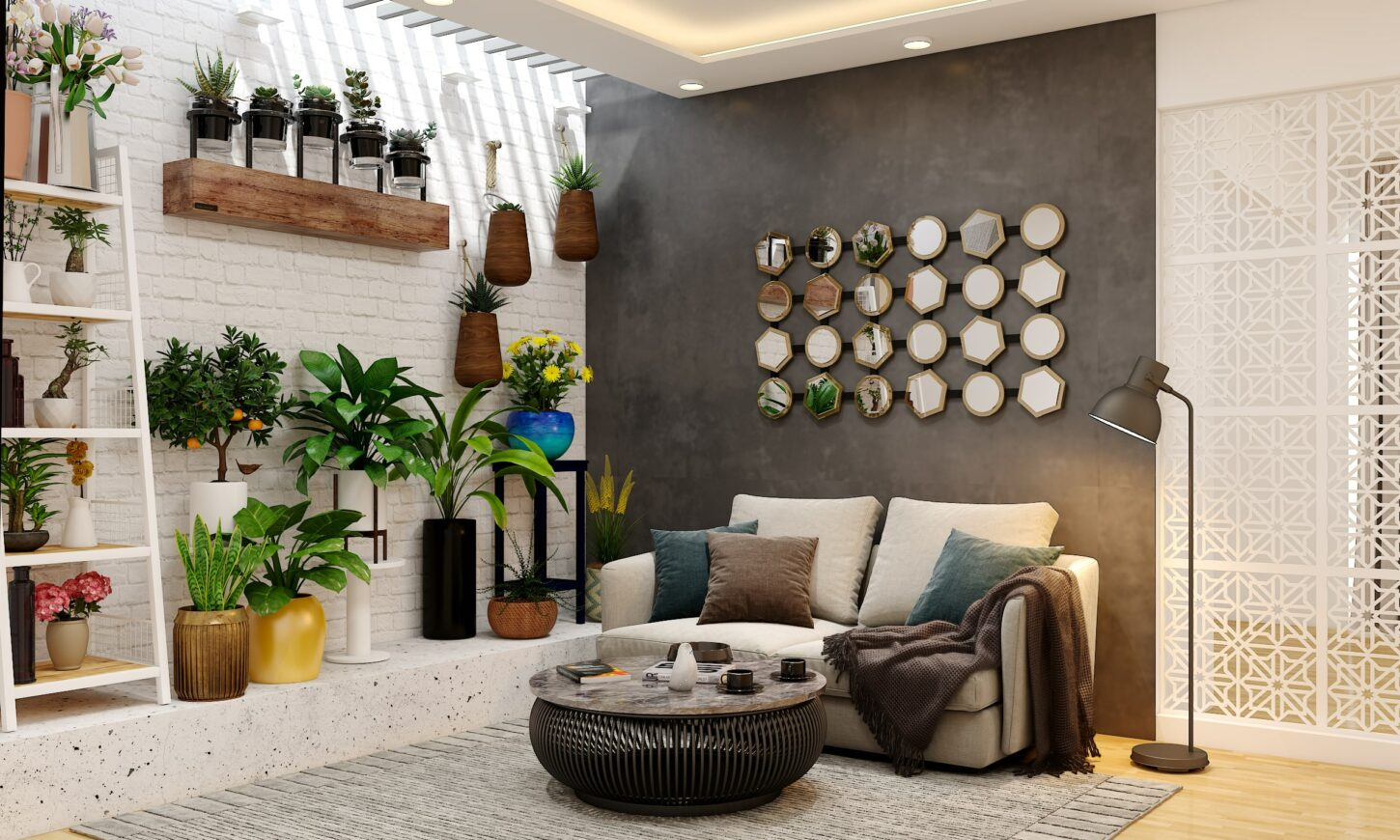 3bhk villa modern contemporary classic home living room interior design of harsh johari in sarjapur project done by design cafe