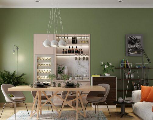 Modern Minimal Style Dining Room