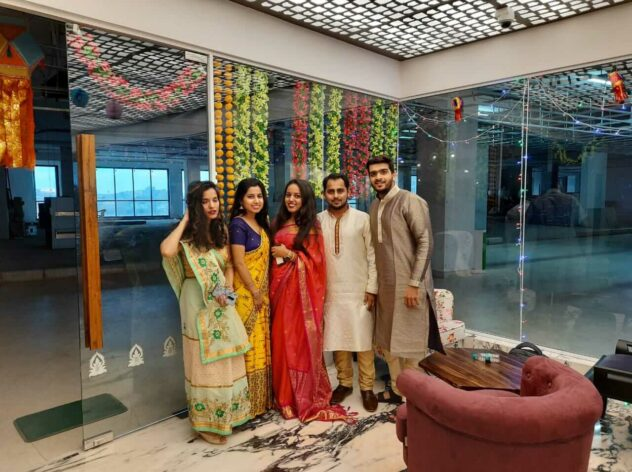 Diwali Festival Celebrations by Design Cafe Mumbai Employees