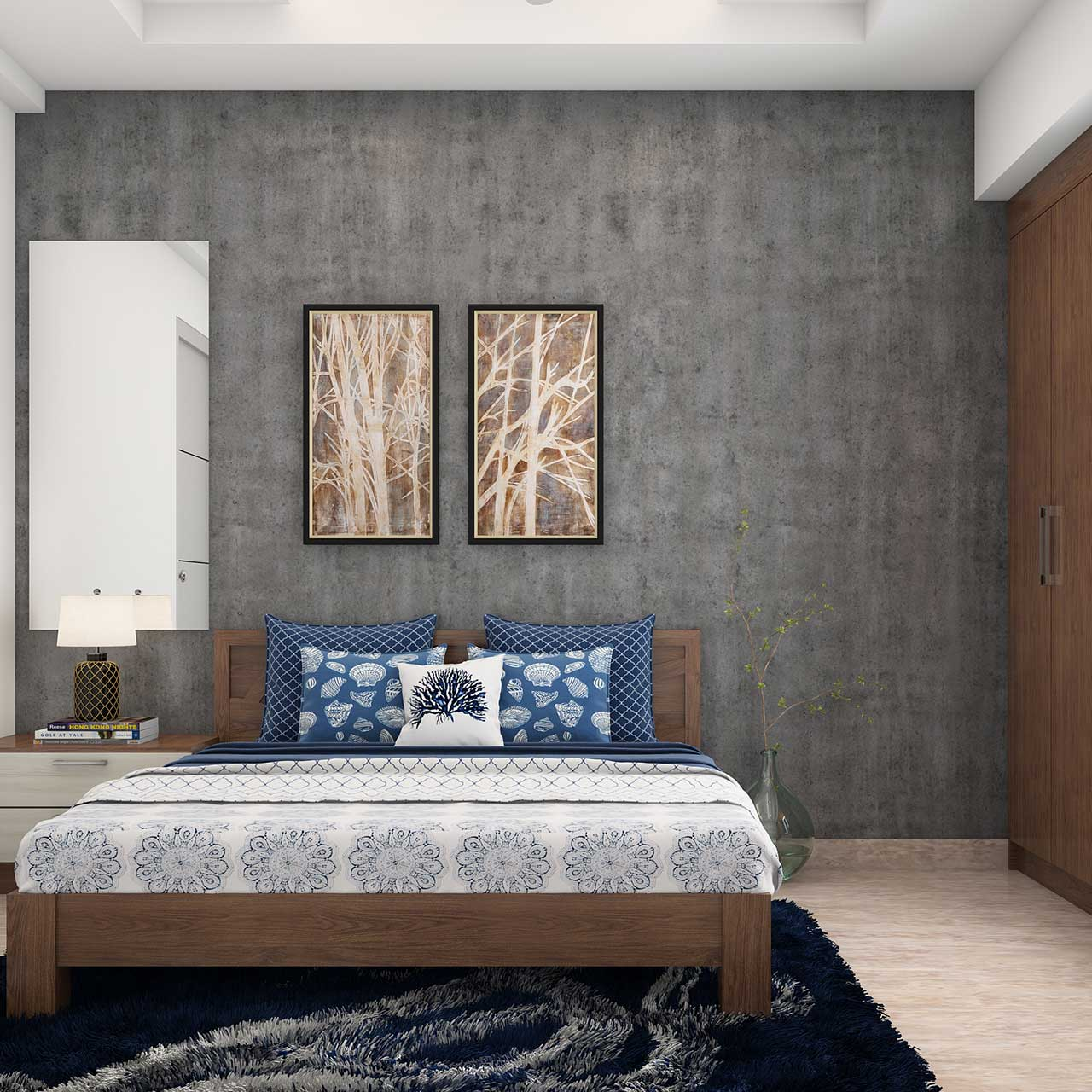 Indian style bedroom designs are all about rich textiles, antique furniture, and handicrafts