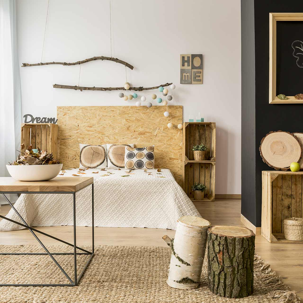 Rustic style bedroom design is your answer to a modern cosy escape from hectic urban life