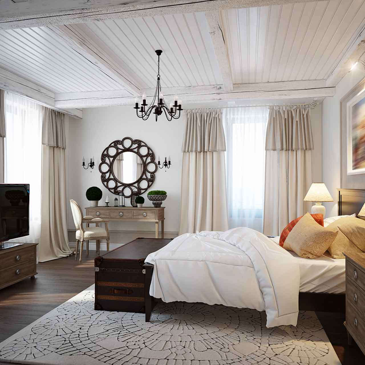 Mediterranean style bedroom interior design is a fusion of sophistication and elegance