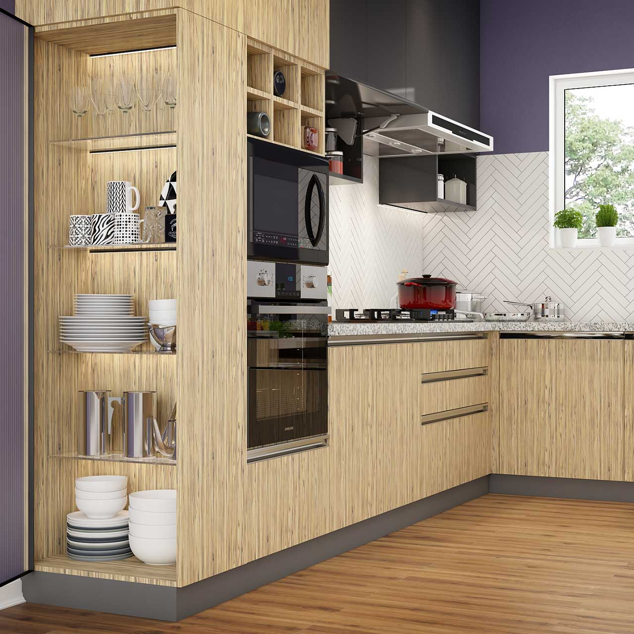 Tall Units for enhancing the storage space in your Modular Kitchen.