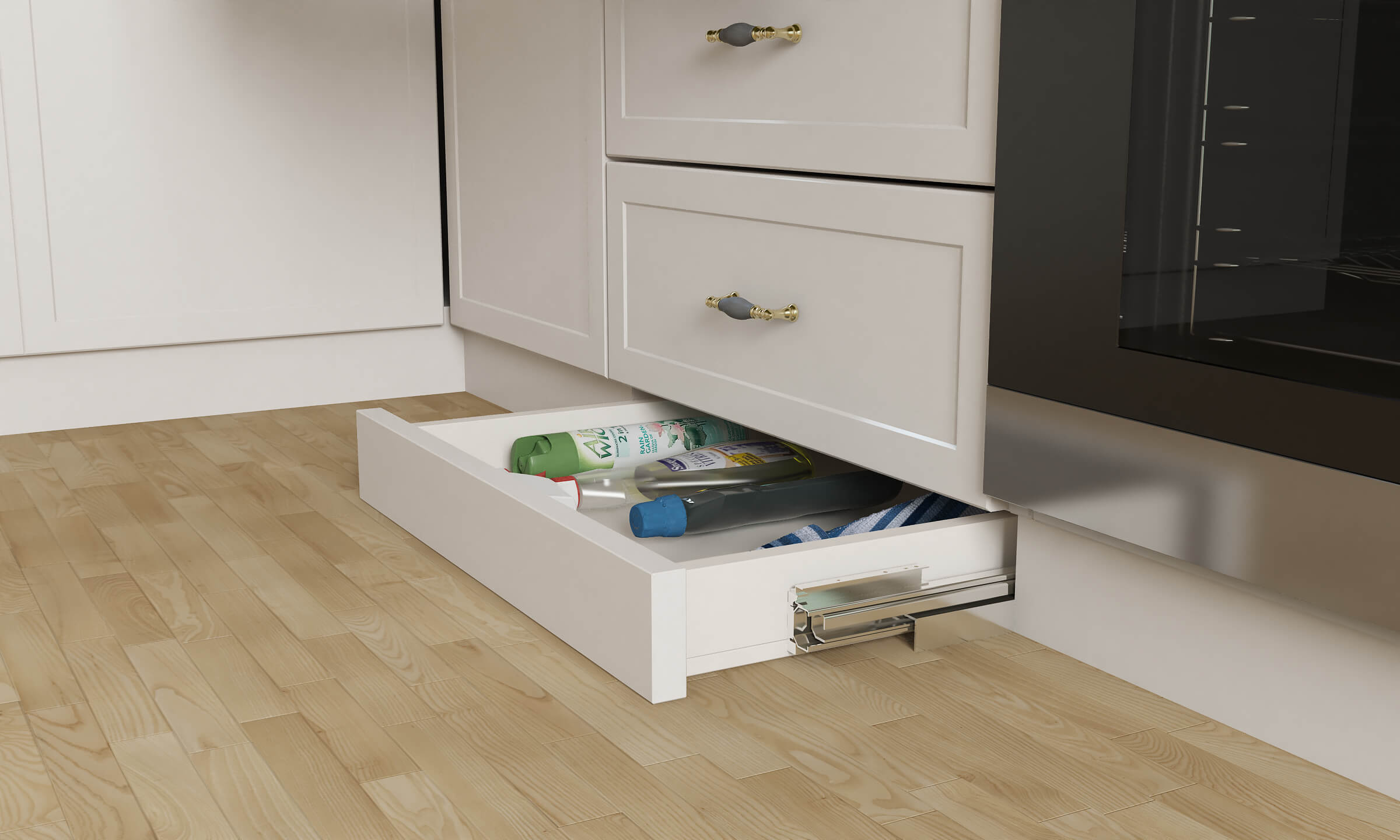 Maximize Storage Space in Your Modular Kitchen with Skirting Drawers in modern kitchen designs for small spaces