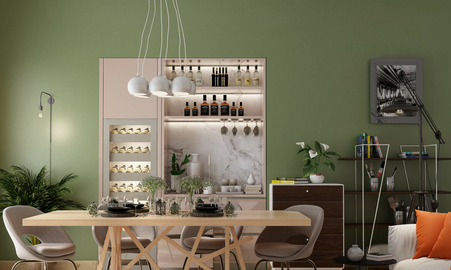 Modern minimal dining room designs is one of the best interior designs with dining room furnitures, tables, chairs and cabinets.