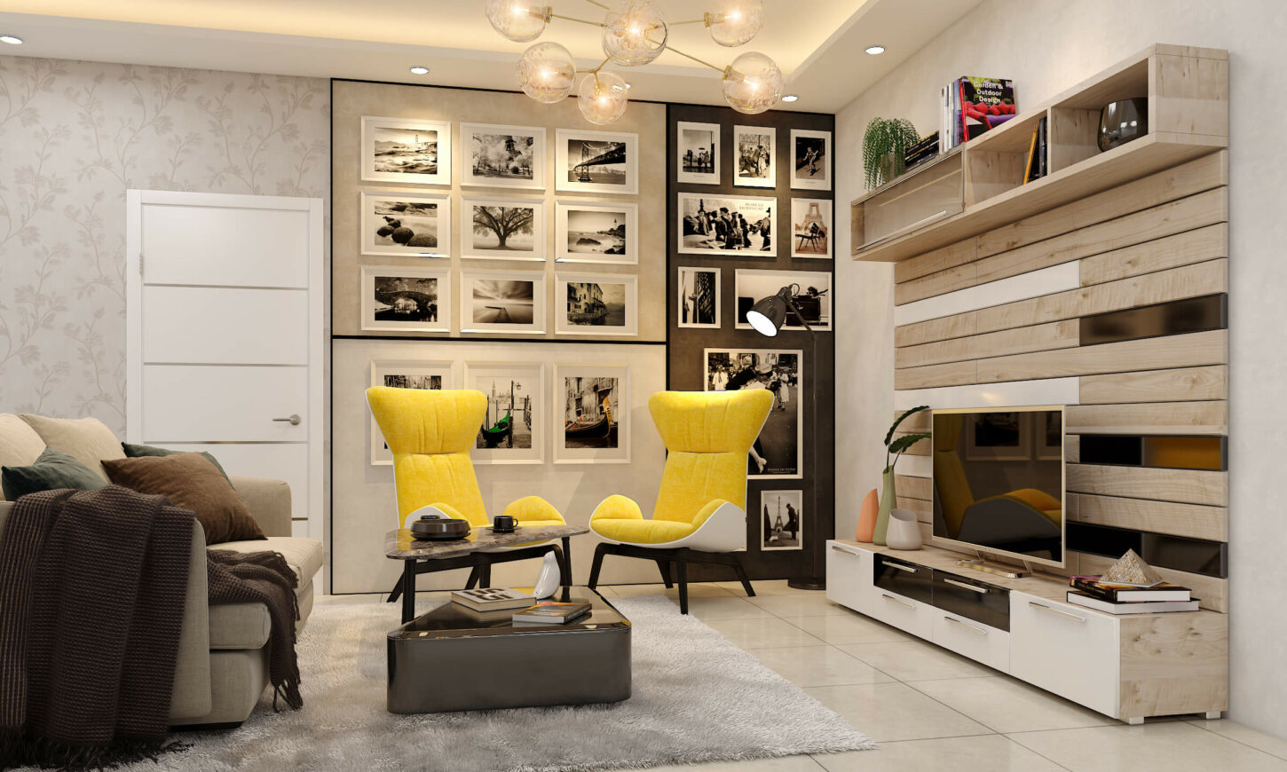 Harsh Johari Living Room Interiors Designed by Design Cafe. Recent Project from Design Cafe.