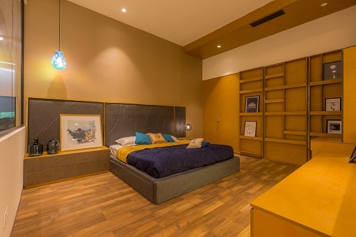 2 BHK Model Flat displayed with Bedrooms Wardrobes at Design Cafe Experience Centre in Whitefield Bangalore.