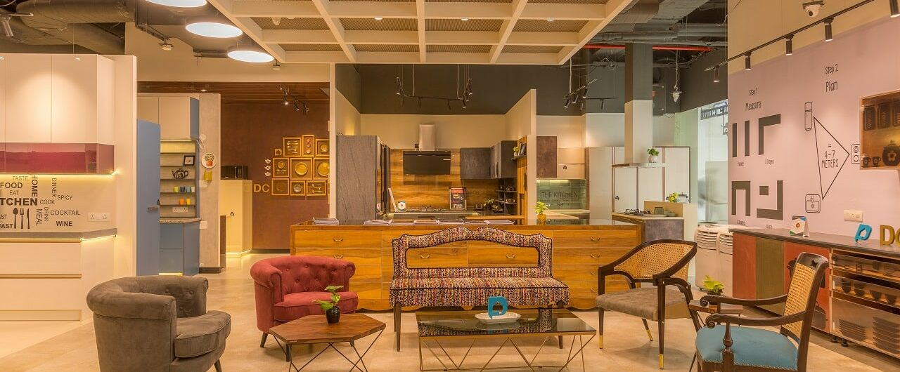 Design Cafe Whitefield Experience Centre Showcasing Furniture Designs in the Store.