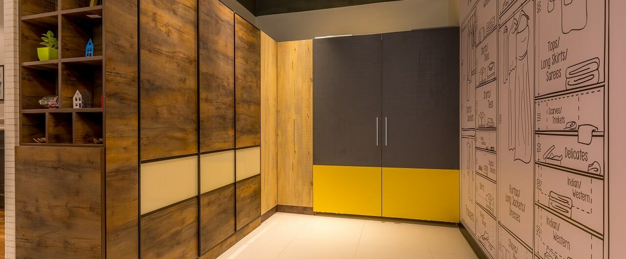 Modular Wardrobes at Design Cafe Experience Centre Home Interiors Store.