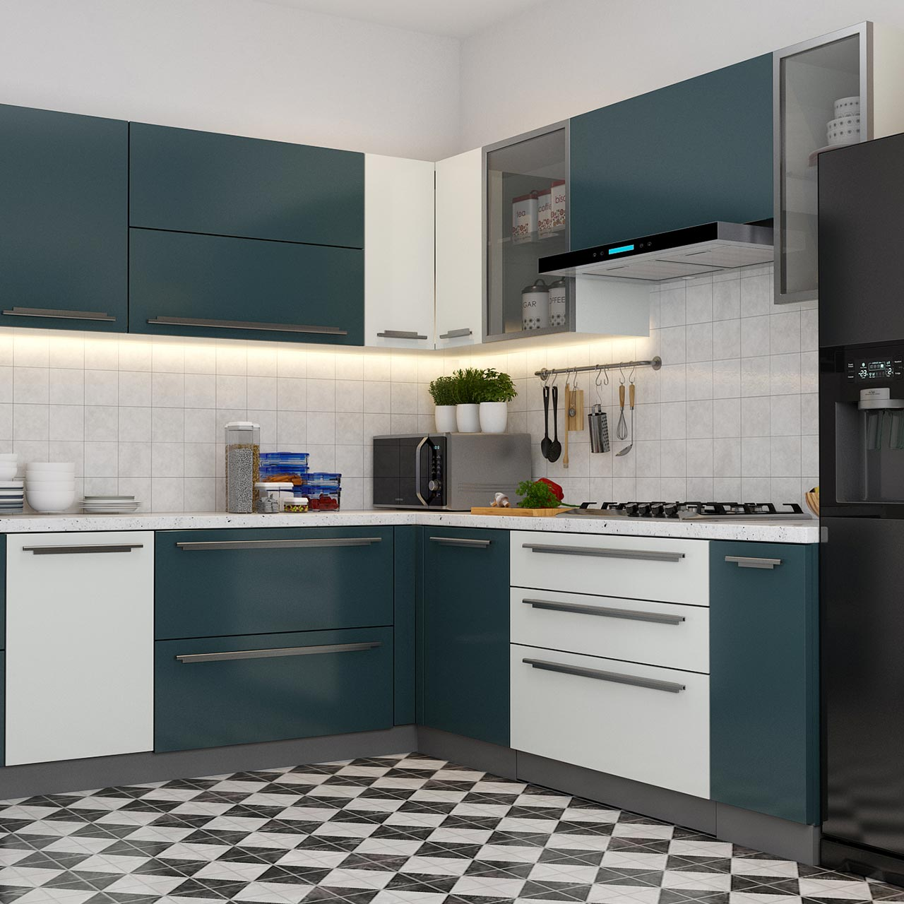 Modern kitchen cabinet design for your home with duco finish in kitchen cabinet pictures