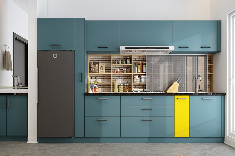 Aesthetic appeal of your kitchen by using open shelving for visual interest