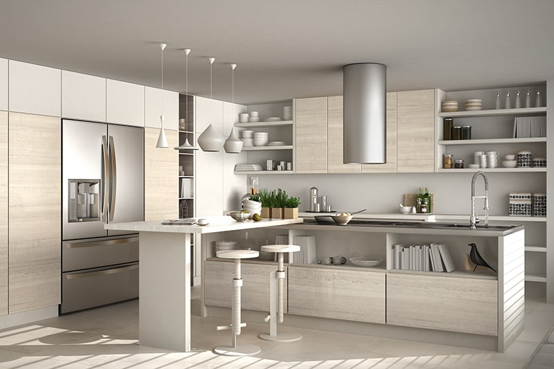 Kitchen open shelves and racks design ideas