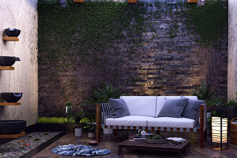 Wooden sofa designs for living room, a wooden sofa set enhances the nature inspired charm of the space