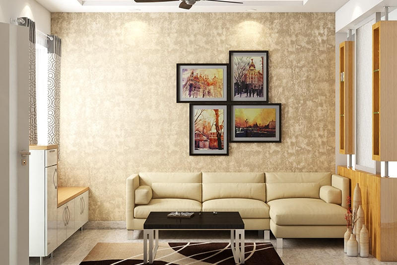 L shaped sofa designs for small living room with a 3 seater in corner of the modern living room