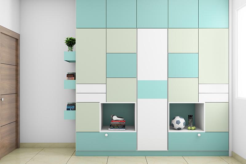 Wooden wardrobe designs with facades where you loose yourself with a small wooden wardrobe