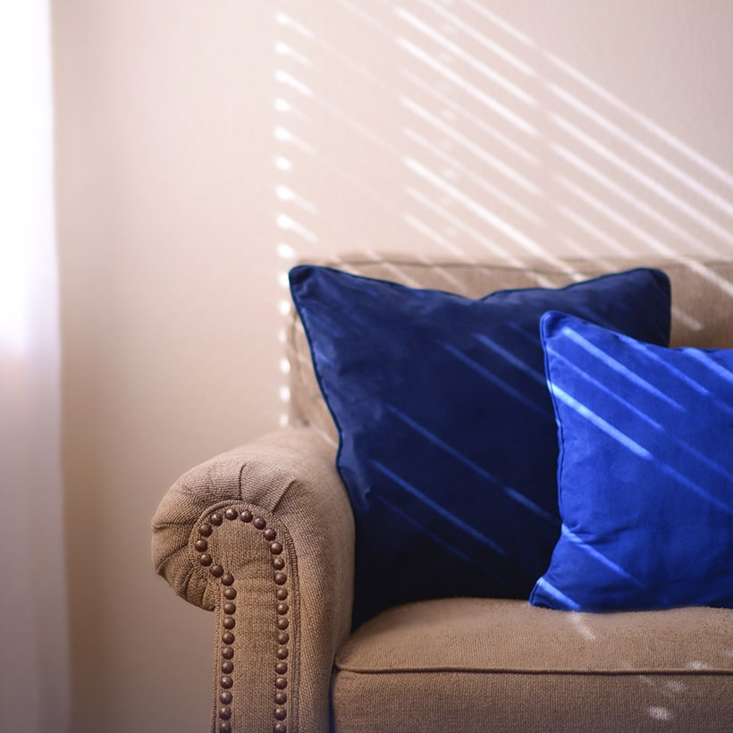 Pantone color classic blue cushions bring peace to living space in 2020