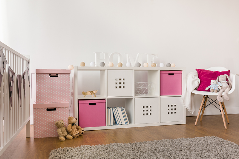 Nursery room decor ideas with accessible storage cupboards for nursery design ideas for baby girl