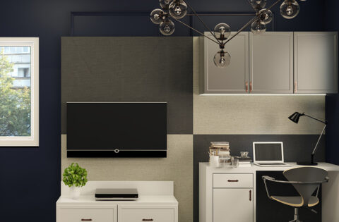 Study ideas for compact homes with wall mounted desk for studying at home