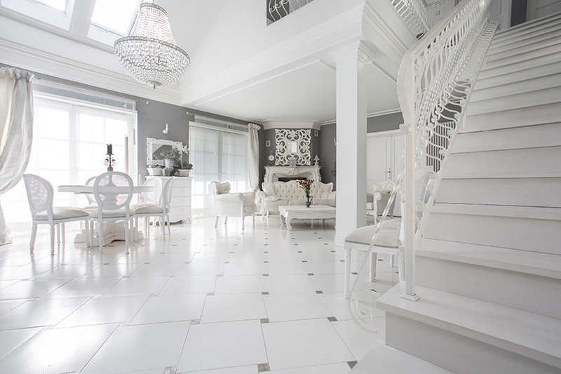 Marble flooring design with beautiful marble tiles which makes a royal look of the combination of tiles and marble