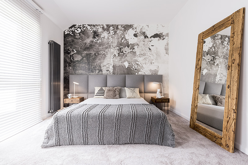 Bedroom decoration designs for your home with a large window and a mirror for bedroom decoration images.