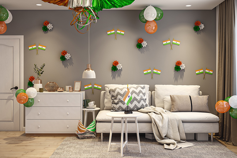 Republic Day decoration for home using crafts, charts, handmade posters