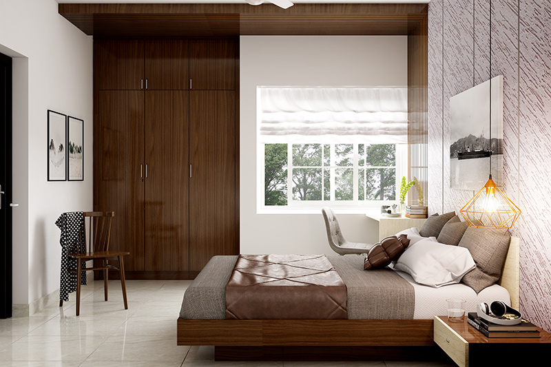 Wardrobe design for bedroom which can be easily moved around between rooms