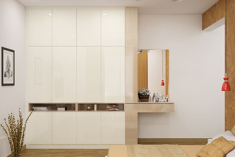 Wardrobe for bedroom design where you must first measure up space in your room