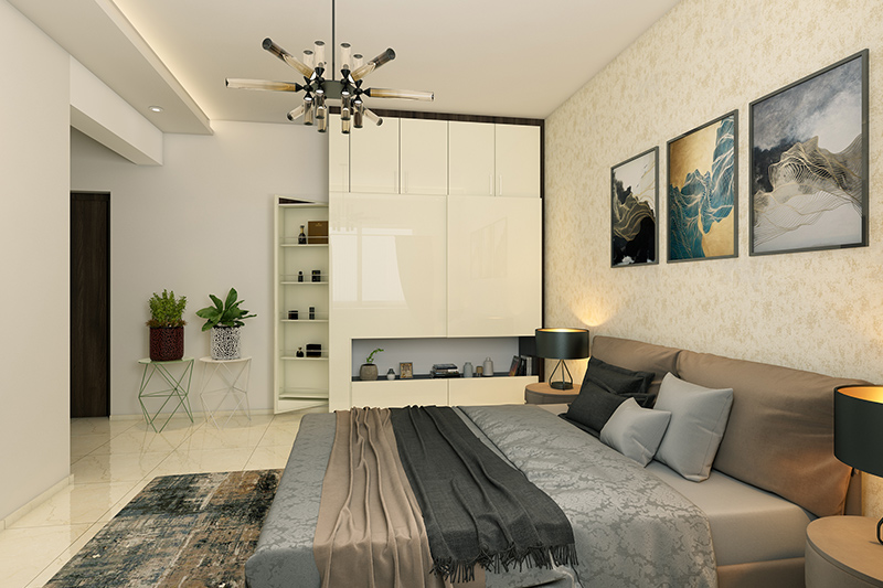 Wardrobe designs for small bedroom that blends in with the existing style of your bedroom interiors