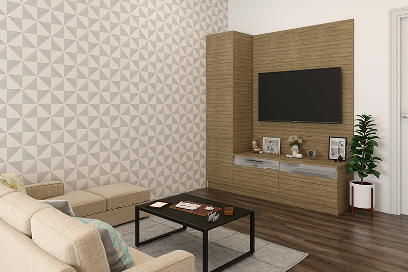 Floor tiles design for small living room where you can consider installing wooden ceramic tiles for wood floor living room