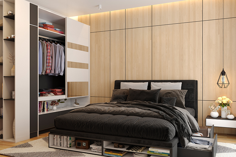 Bedroom bed design for your home where solid wood beds are pricier than modern engineered indian bed design