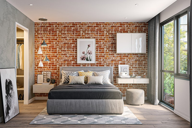Decoration trends for mumbai homes in 2020 by choosing textured walls, brick walls and tiles are a unique way to add a pop of design