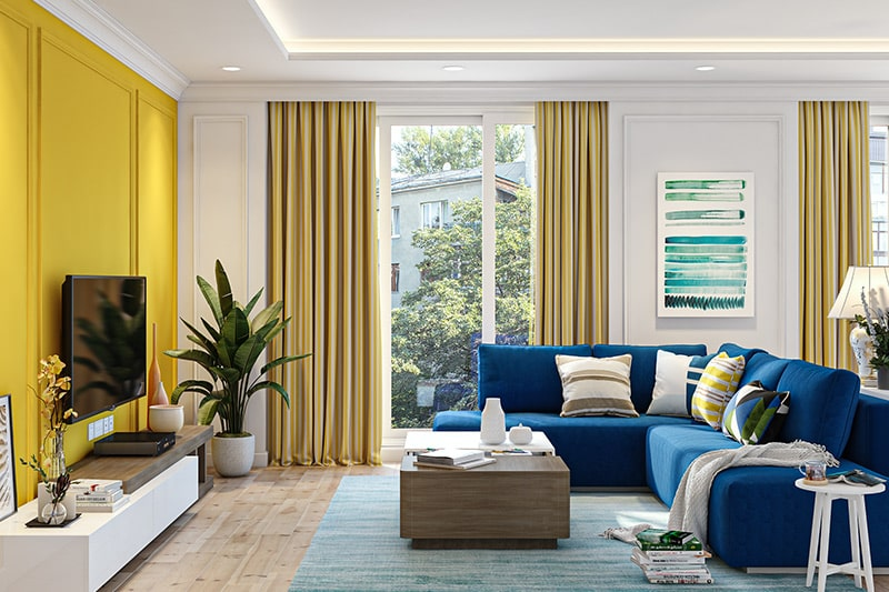 Mumbaikars mumbai homes colour trends in 2020 like blue and yellow for your furnishing and decor