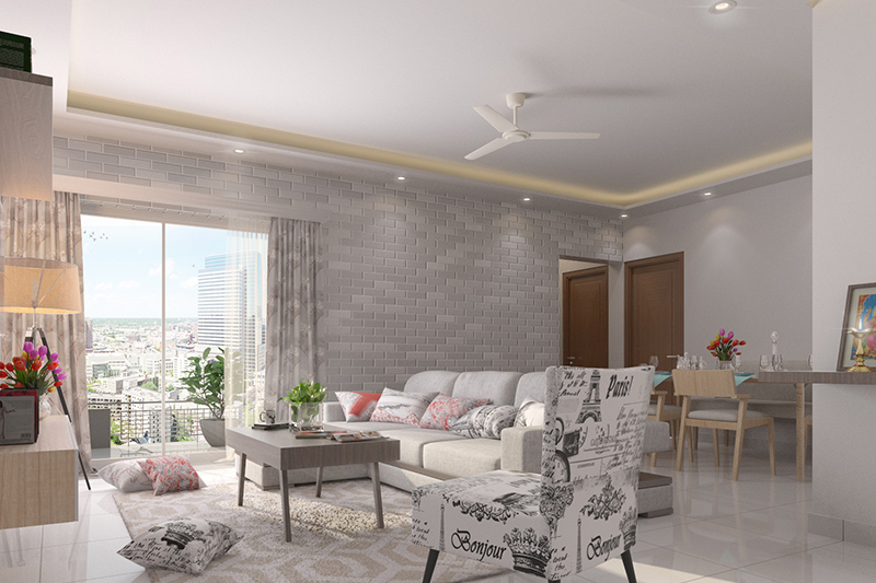 Living Room Wall Tiles Designs For Your Home | Design Cafe