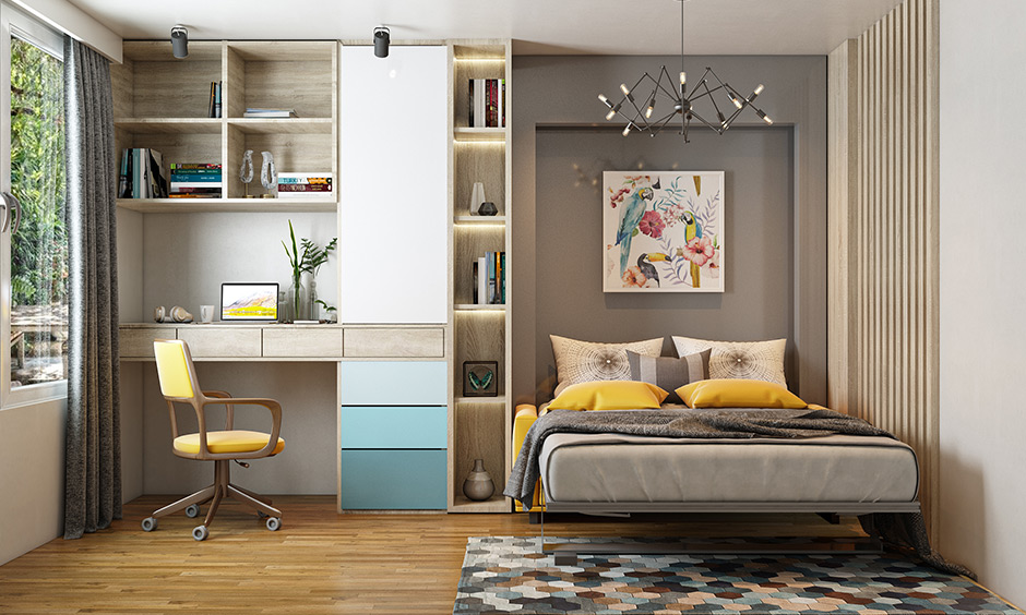 Murphy types of beds are the best option with limited space in an apartment or live in a small home.