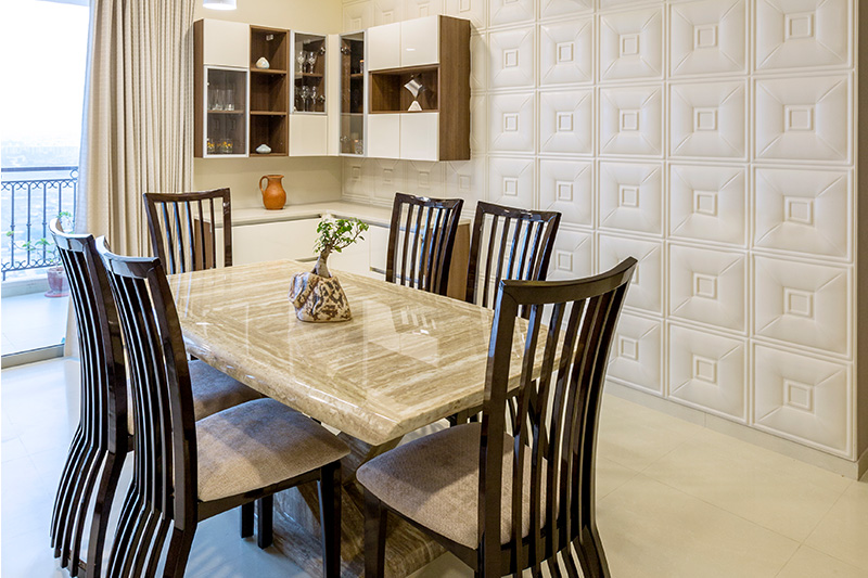 Modern dining table design where simplicity and subtleness, is the shine and sophistication for marble dining table design