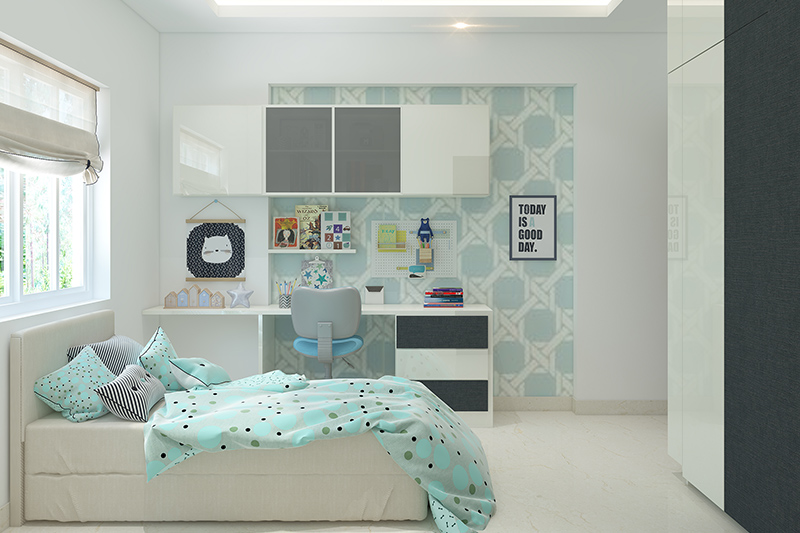 study room with bedroom for your home where children today have a lot to deal with the kids study area
