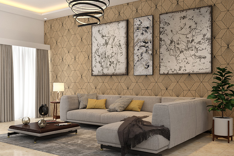 Wall painting designs for hall where walls play an integral role to give your hall interiors a complete look