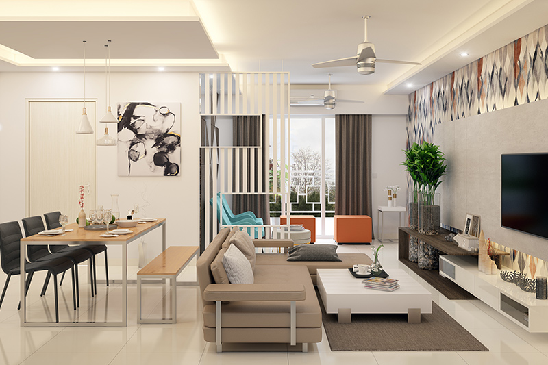 Playful experimentation in small living room dining room combo ideas for your home