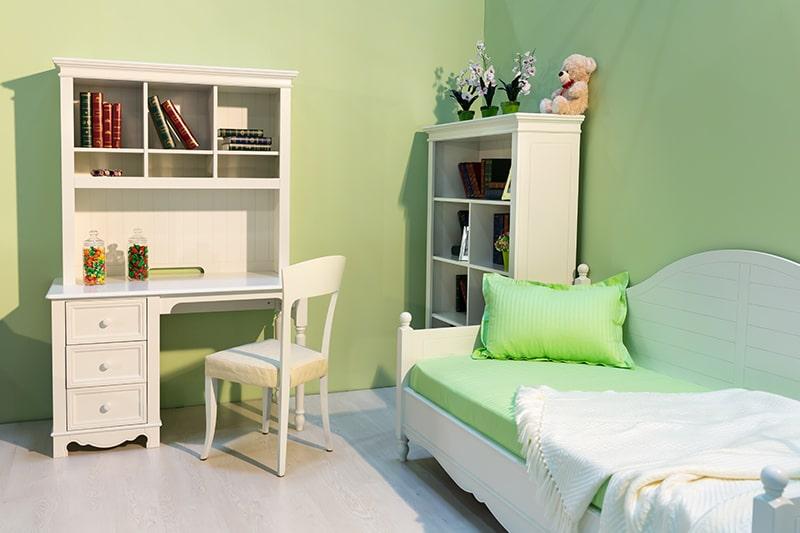 Artichoke shade green colour room design looks for a softer colour palette