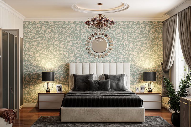 Types of wallpaper patterns for your home where flock wallpapers are a classy addition to any space