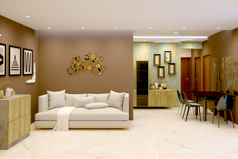 Living room marble flooring design keep it simple and classy with a pristine white marble floor without any modifications.