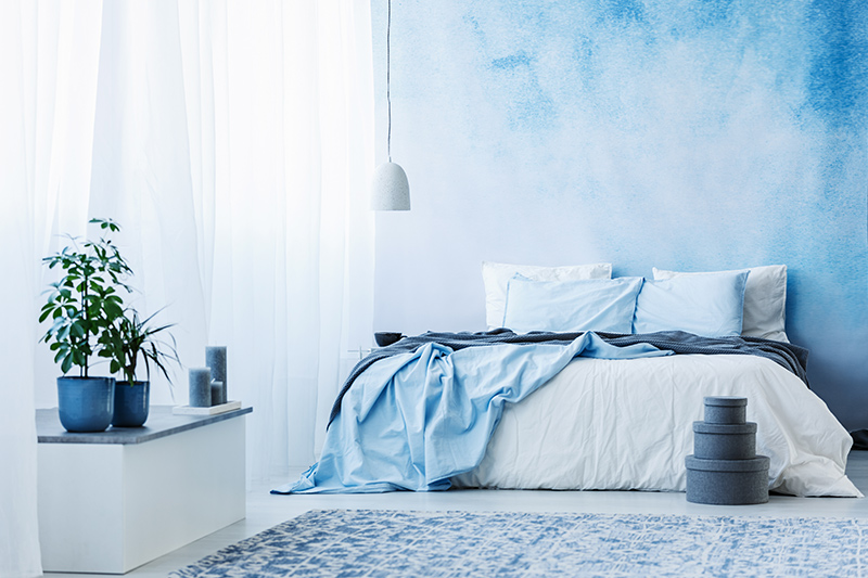 Cooler blue bedroom that a softer shade or a mix of blue and white paint will genuinely liven up those walls of yours.