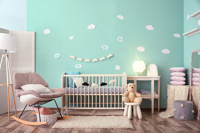 Dreamy blue paint for bedroom, this shade of blue is what dreams are made up of! It will help your kid unwind and fall into a good night's sleep.